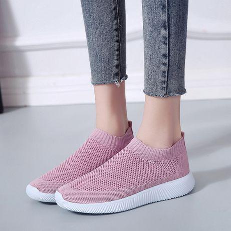 Super lekkie adidasy buty tenisówki różowe damskie przewiewne