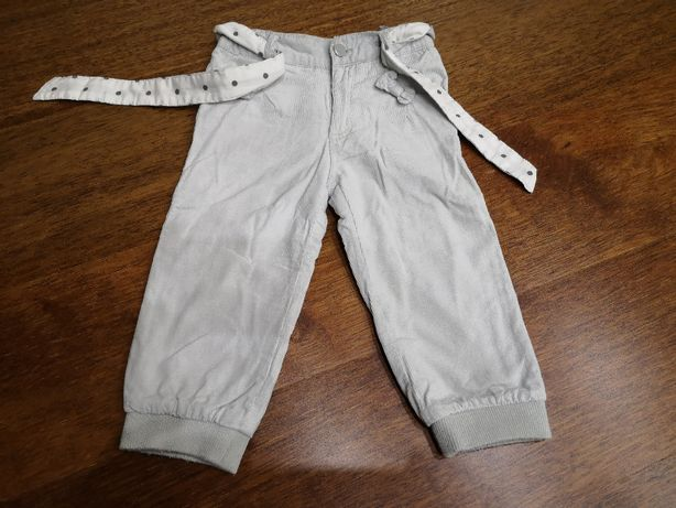 Spodnie szare sztruks SMYK r. 86.
