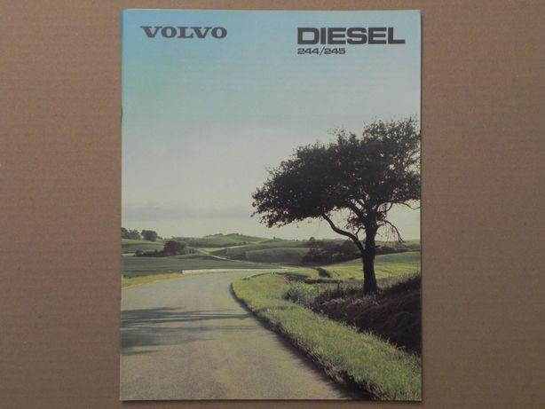 Prospekt - VOLVO 240 - 244 / 245 - DIESEL - 1980 r