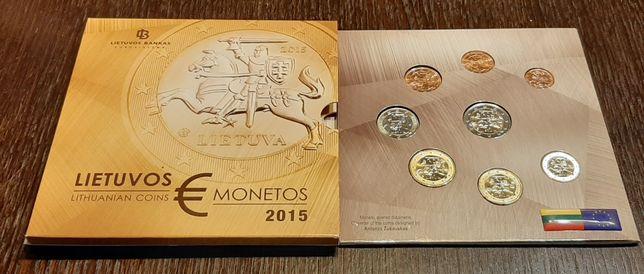 Zestaw 8 monet- centy i euro-  Litwa 2015