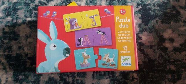 Puzzle Duo Przeciwieństwa Djeco 2+