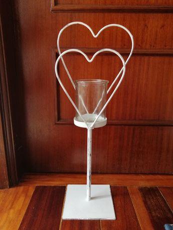 Porta velas coração decorativo