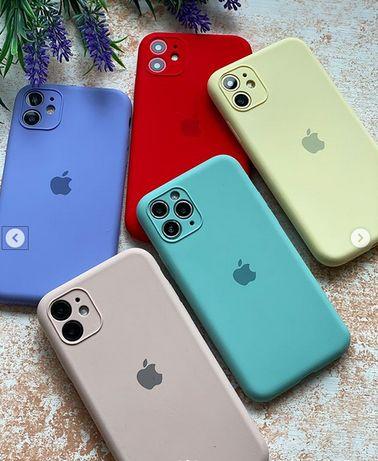 Cиликоновый чехол Silicone case Full Camera iPhone 11, айфон 11 pro