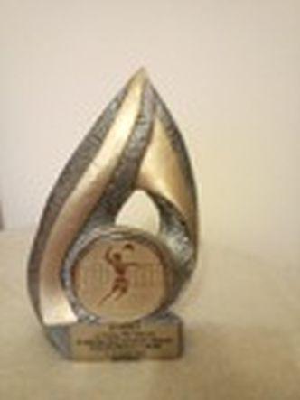 Puchar- Statuetka w formie łzy z gipsu z 2004 r.