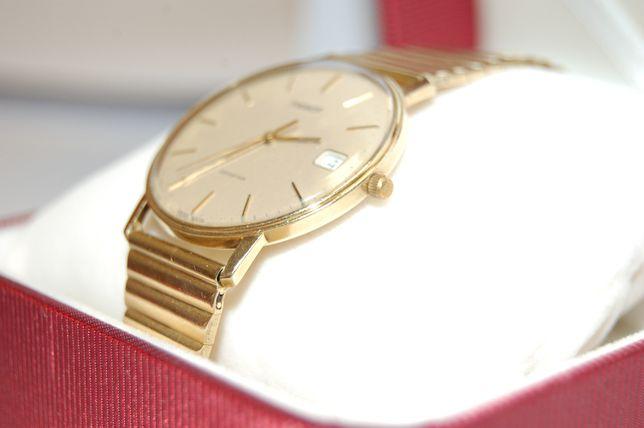 Zegarek TISSOT Gwarancja 70-80 Lata ZŁOTY ZŁOTO 585 Piękny JEDYNY