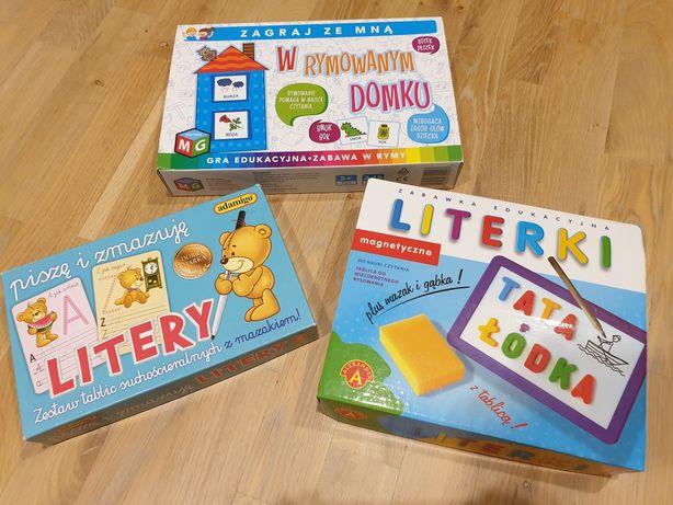 Zabawki, gra, nauka pisania, czytania, literki magnetyczne, wiek 5+