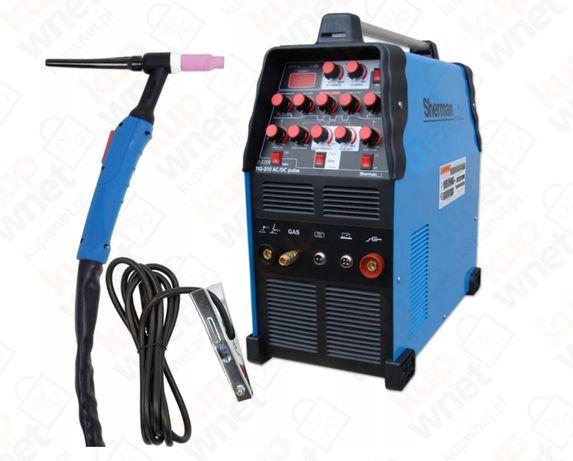 Spawarka TIG 210 AC/DC Puls HF MMA IGBT 200A 60% dostawa gratis