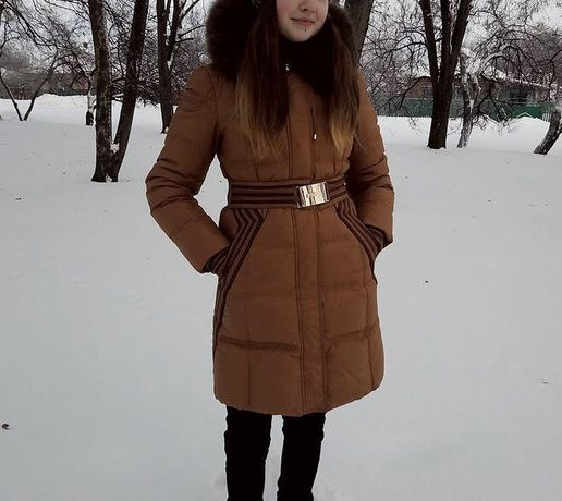 Зимний пуховик куртка женская