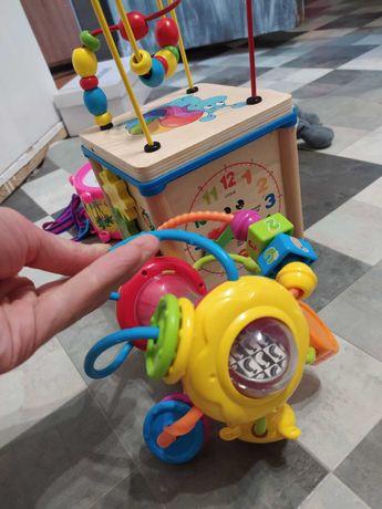 Развивающие игрушки шар Монтессори погремушка 6+ месяцев