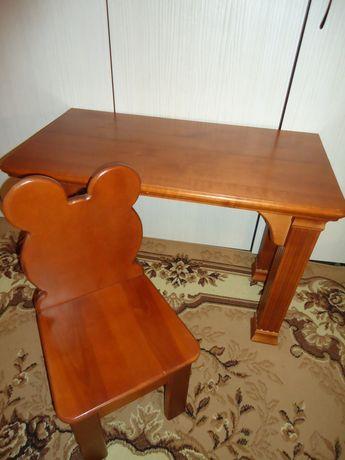 Детский стул и стол  (деревянная мебель для детей)