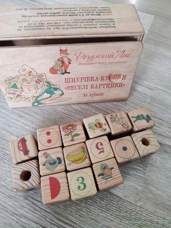 Шнурівка кубики Розумний лис