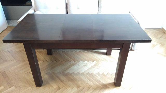 Stół rozkładany lite drewno fornir dębowy 160x80 120x80 wenge orzech