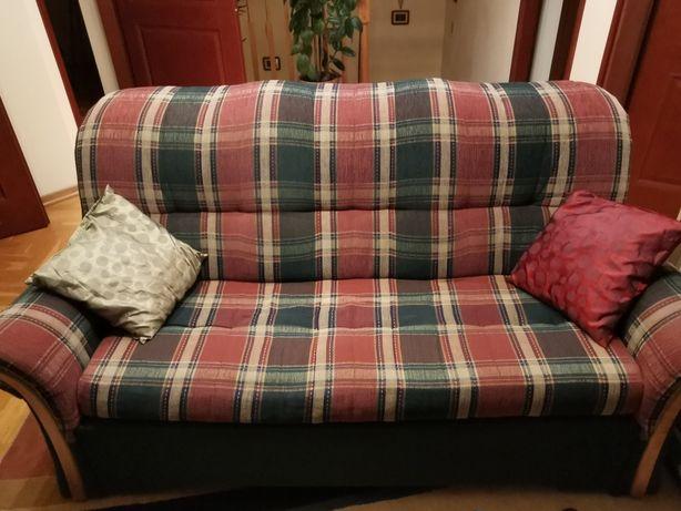 Komplet wypoczynkowy 2 fotele i sofa rozkladana