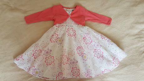 Sukienka z bolerkiem dla dziewczynki 74 - bdb