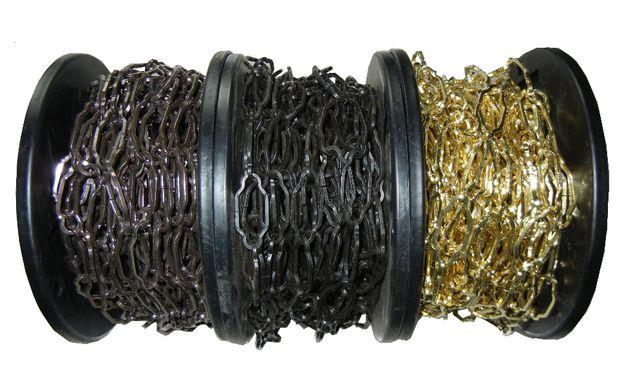 Łańcuch 3,8 dekoracyjny ozdobny do lamp zyrandola złoty czarny 10m