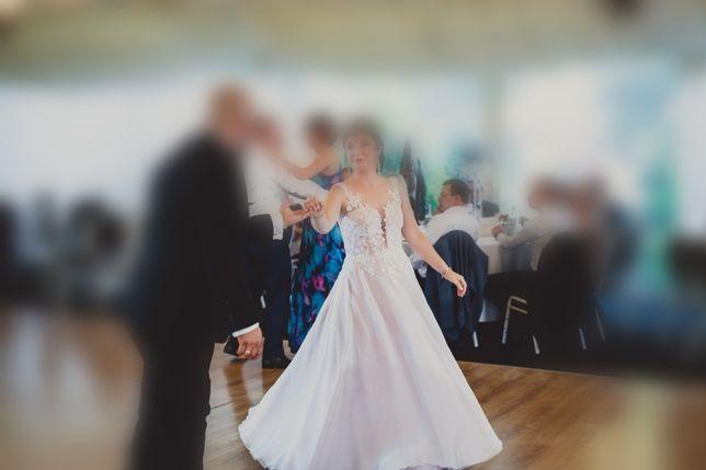 Suknia ślubna, rozmiar 36, pudrowy róż