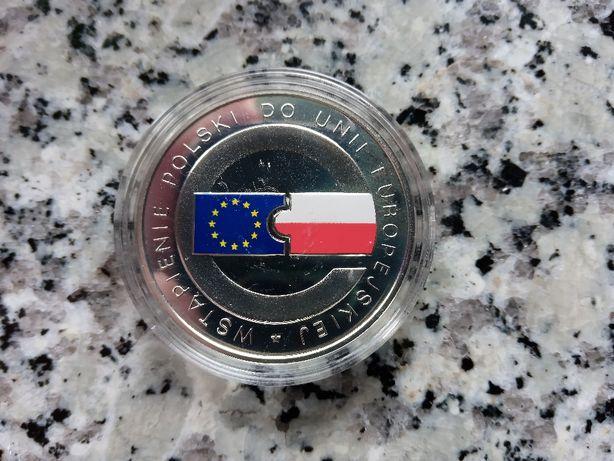 Srebrna moneta - 10zł 2004r. Wstąpienie Polski do UE