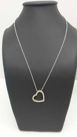 Złoty łańcuszek z zawieszką 8,60g 585 diamenty 0,50ct