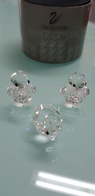 Cristal Swarovski- Coleção animais miniaturas -Patinhos conjunto 3