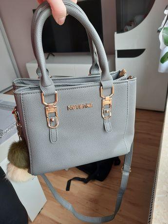 Piękna szara torebka damska