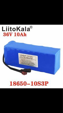 Батарея 36V 10А.Ч для электровелосипеда скутера с Зарядным и BMC