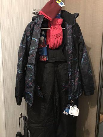 Костюм лыжный зимний(куртка, штаны, шапка, перчатки,гольфы)50р_р