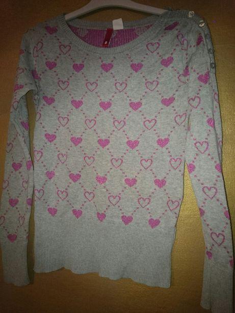 Must have sweterek h&m, romantic look, rozmiar 8, unikat, sexy