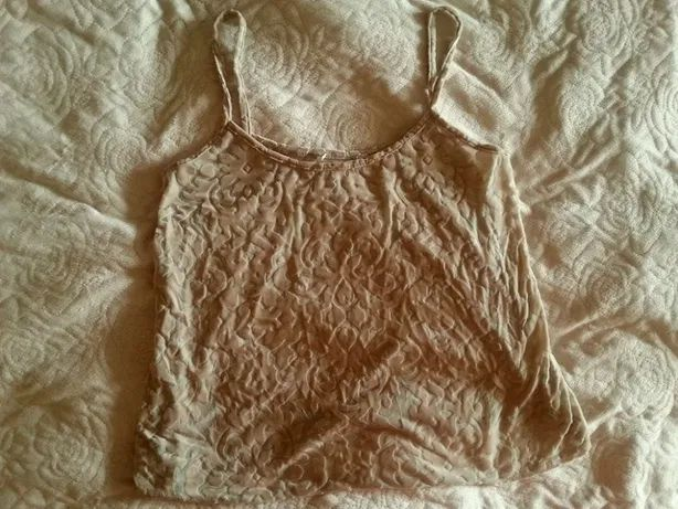 Beżowa bluzka we wzory