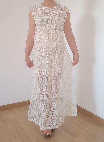 Vestido comprido transparente