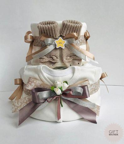 Торт з підгузників,торт з памперсів,подарунки для немовлят.Подарунки.