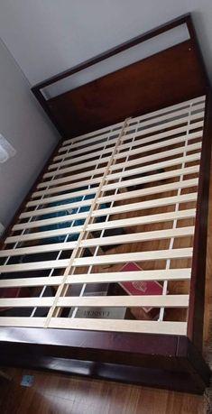 Sprzedam łóżko drewniane 140x200cm z materacem lato zima