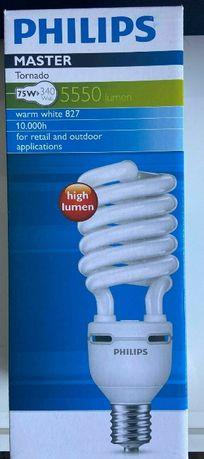 Żarówka świetlówka CFL Philips Tornado 75W 340W 5550 lumenów ciepła