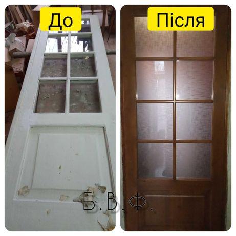 реставрация дверей, мебели