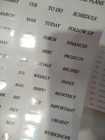Стикеры, наклейки для планера, ежедневника, блокнота