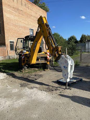 Гидромолот JCB екскаватор копка трактор демонтаж