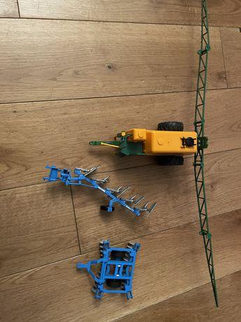 Modele Siku 1:32 opryskiwacz Amazone + pług Lemken + brona maszyny rol