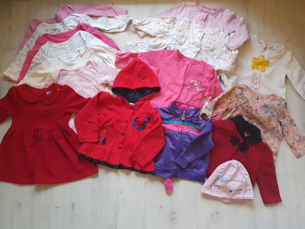 Paka paczka ubranek dla dziewczynki 6 - 9 miesięcy