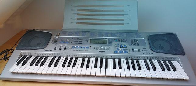 Casio CTK 591 keybord klawiatura dynamiczna + pokrowiec rezerwacja