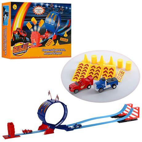Автотрек Игровая дорога ЖД Hot Wheels Magic Track Hex Bug Nano Chariot