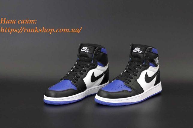 Кроссовки унисекс Nike Air Jordan 1 RETRO Blue Найк Аир Джордан 1