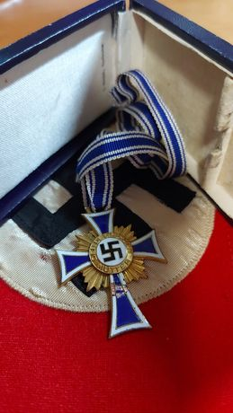 Cruz Mãe Mutter Kreuz gold com caixa Alemanha nazi-suástica ORIGINAL