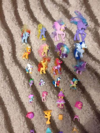 wielka kolekcja kucyków pony armor, twilight, smok spike,