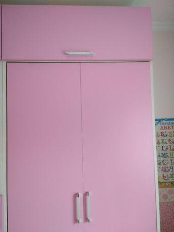Шкаф-кровать,кровать-трансформер, кровать в детскую, кровать розовая
