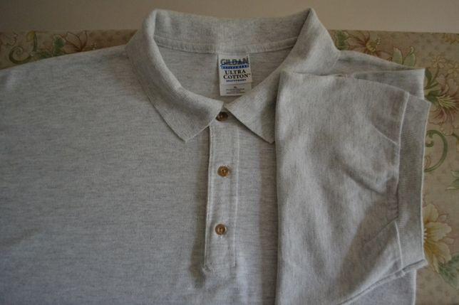 Чоловіча футболка (поло) Gildan activewear великого розміру