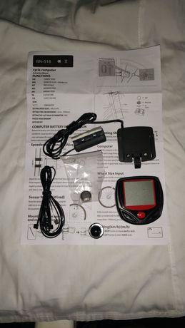 Velocímetro com várias funções e relógio. (novo na embalagem)