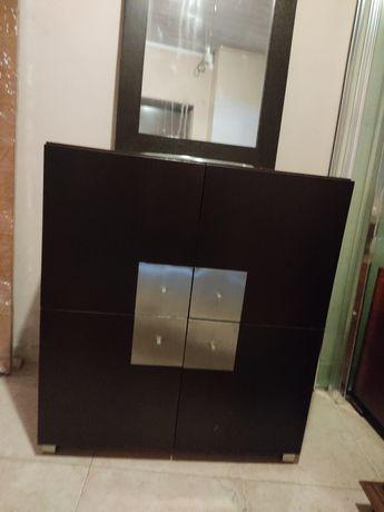 Móvel casa de banho com lavatório OFERTA: torneira  espelho
