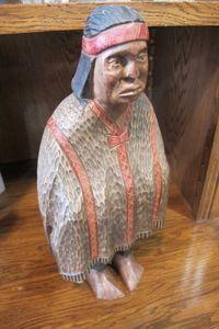 Rzeźba drewniana Indianin 42cm