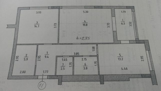 Двух комнатная в новострое, Площадь Ганибалла!