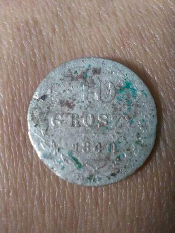 monety ,moneta 10 GROSZY 1840r, srebro