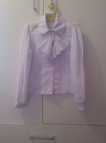 Блуза школьная нарядная белая 134 рост